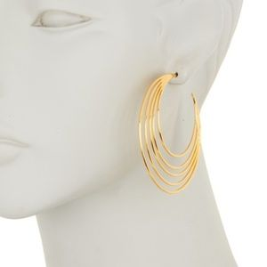 GORJANA 18K Gold Plated Casey Profile Hoop Earring